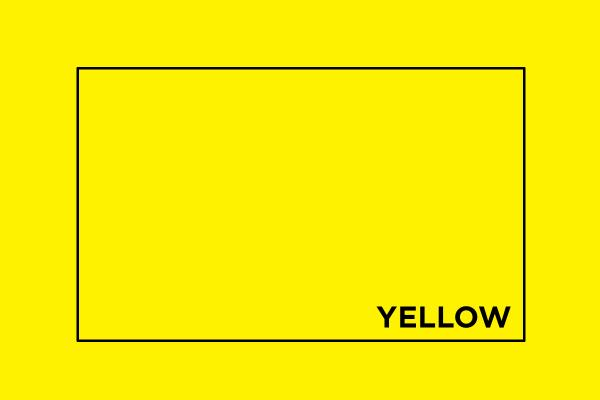 Yellow in CMYK
