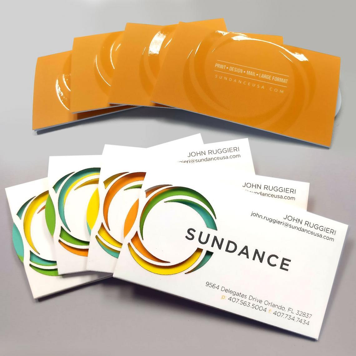 SunDance Spinning Business Cards