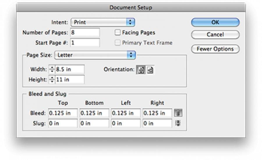 Preparing a document using Adobe InDesign