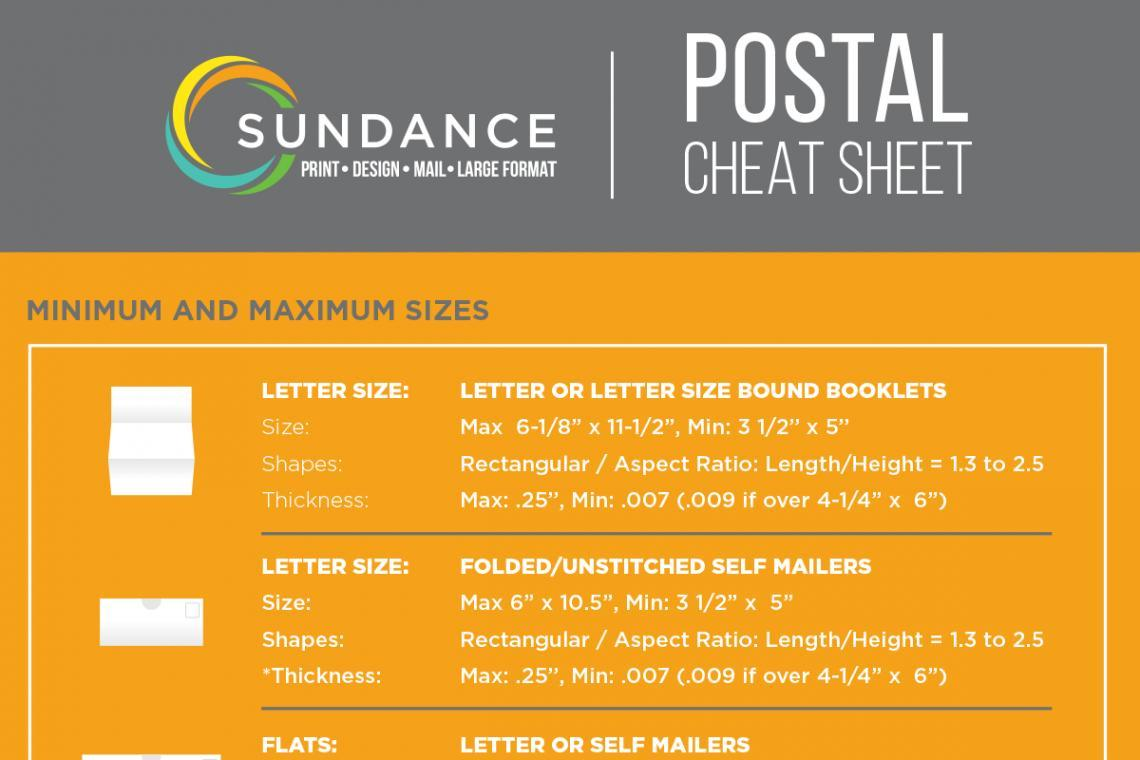 SunDance Postal Cheat Sheet