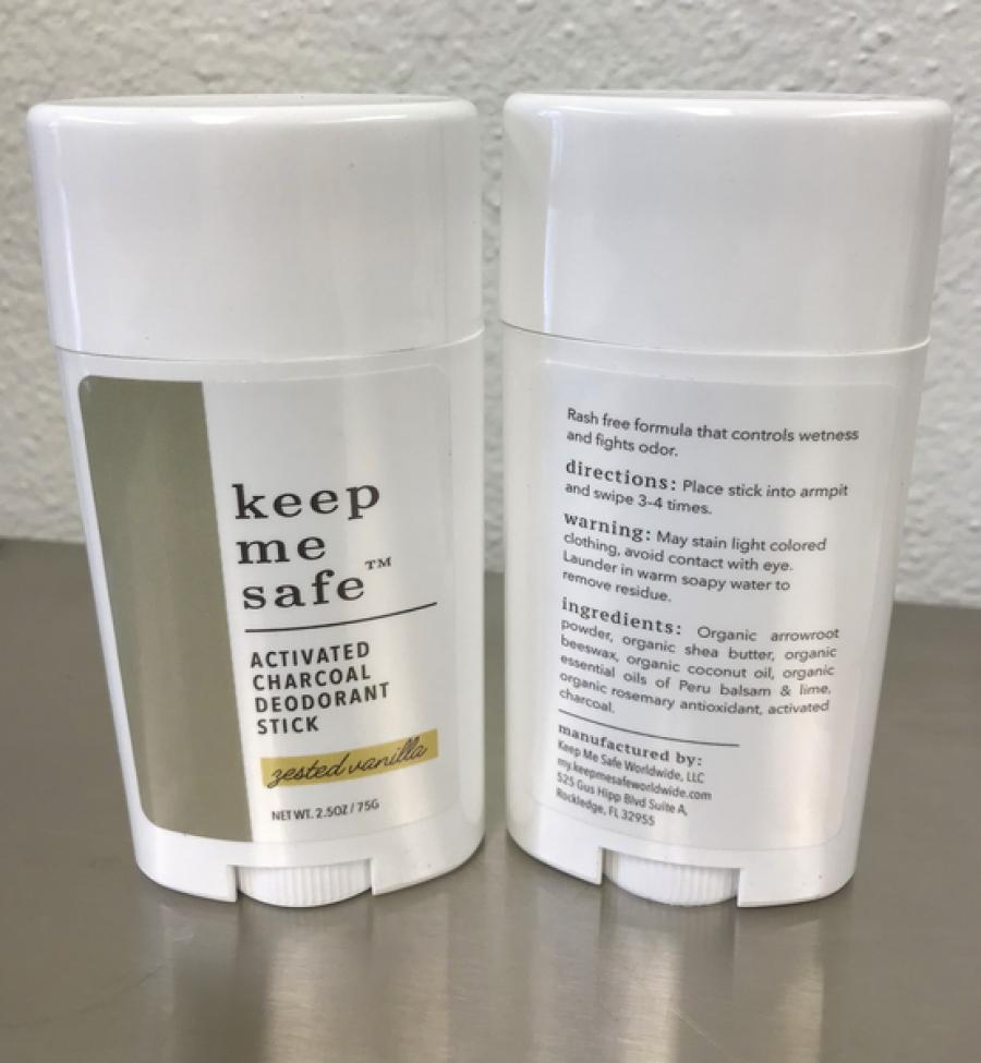 Keep Me Safe Deodorant Labels
