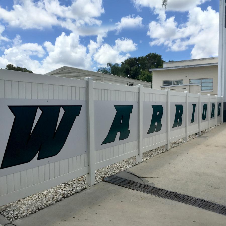Webber International University - Warrior Decal Panels